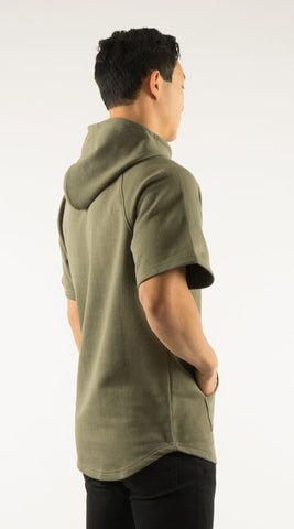 Akomplice VSOP -  West S/S Men's Hoodie, Military Green