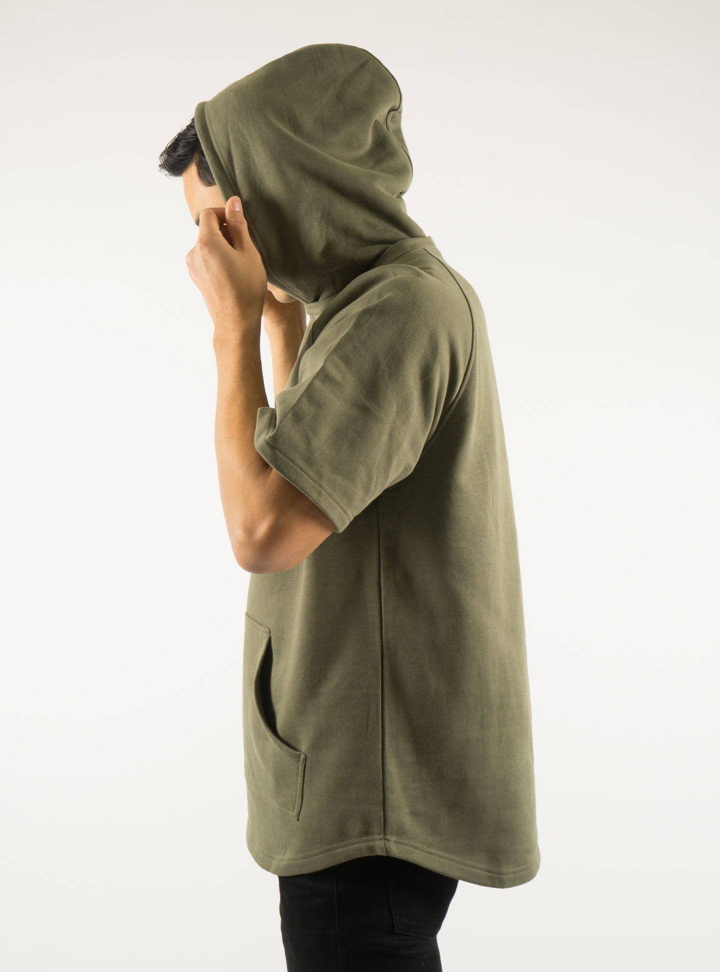 Akomplice VSOP -  West S/S Men's Hoodie, Military Green - The Giant Peach - 4