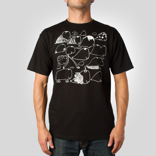 FIFTY24SF x David Choe Whales Men's Shirt, Black - The Giant Peach