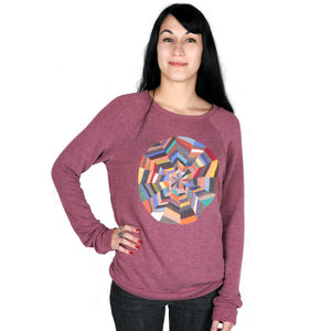 OBEY x DeeDee Cheriel - Omnipotence Women's Sweatshirt, Burgundy - The Giant Peach