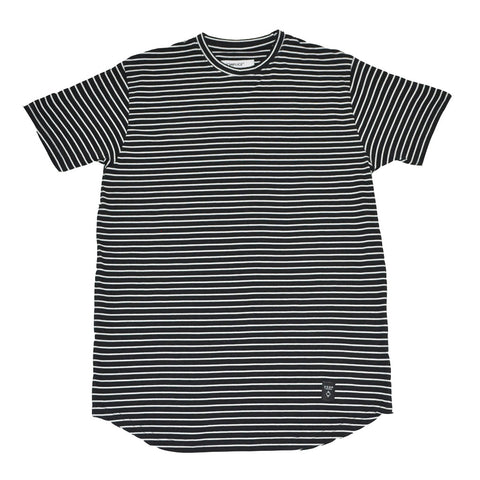 Akomplice - White Striped Moan SC Men's Tee, Black