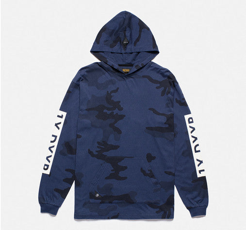 10Deep - Winter Wars Men's Hooded Tee, Midnight Woodland - The Giant Peach
