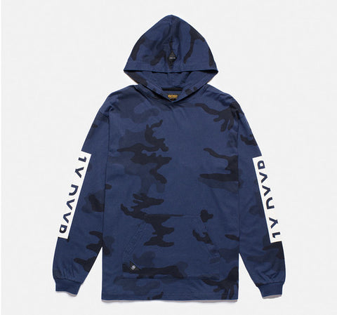 10Deep - Winter Wars Men's Hooded Tee, Midnight Woodland