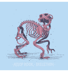Aesop Rock - Skelethon Women's Shirt, Light Blue - The Giant Peach