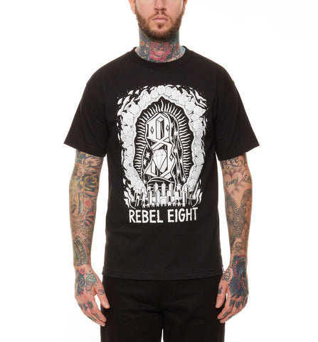 REBEL8 - Worship Worthy Men's Shirt, Black