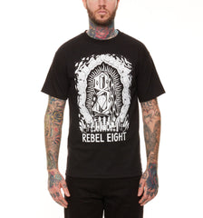 REBEL8 - Worship Worthy Men's Shirt, Black - The Giant Peach - 1