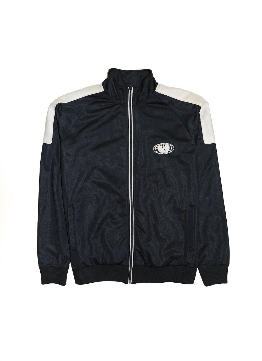 Wu Wear - Re United Men's Track Jacket, Navy/White