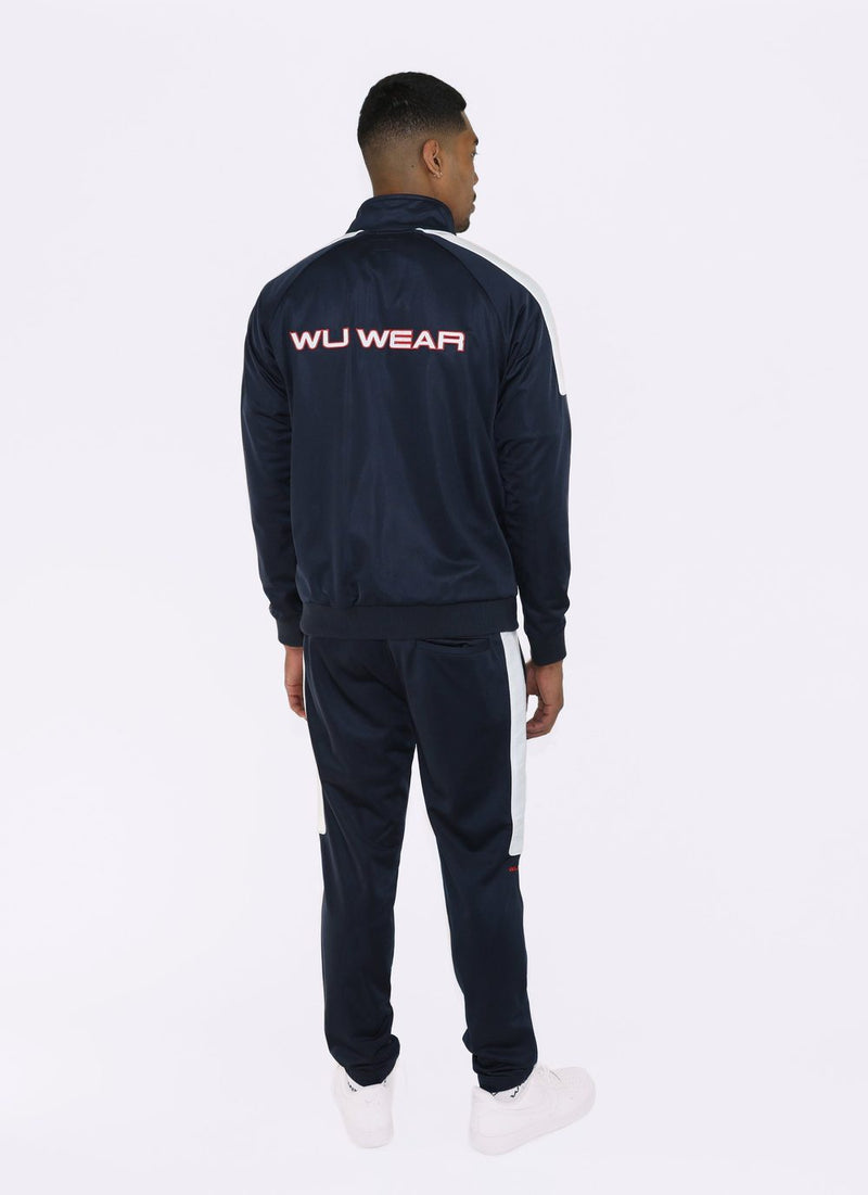 Wu Wear - Re United Men's Track Pants, Navy/White