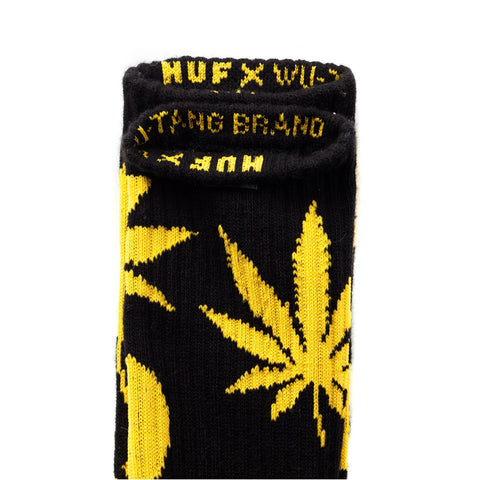 HUF x Wu-tang Plantlife Socks, Black