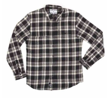 REBEL8 - WWD Men's Flannel Shirt, Grey