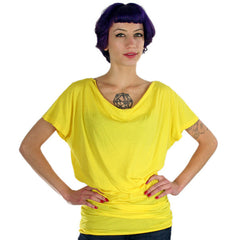 Harajuku Lovers - Pin Tuck Junior's Top, Psychedelic Yellow - The Giant Peach - 1