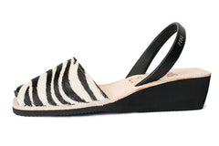 Pons Avarcas - Wedge Animal Print, Zebra - The Giant Peach - 1