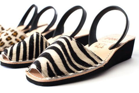 Pons Avarcas - Wedge Animal Print, Zebra
