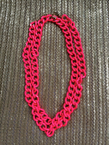 Haute Pink Heavy Metal Necklace
