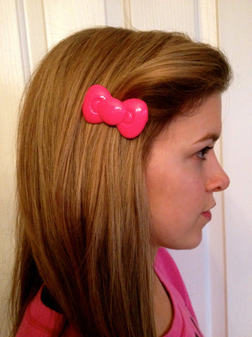 Hello Kitty Inspired Bow Barrette