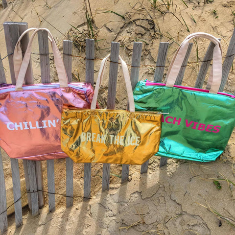 Metallic Insulated Beach Bags