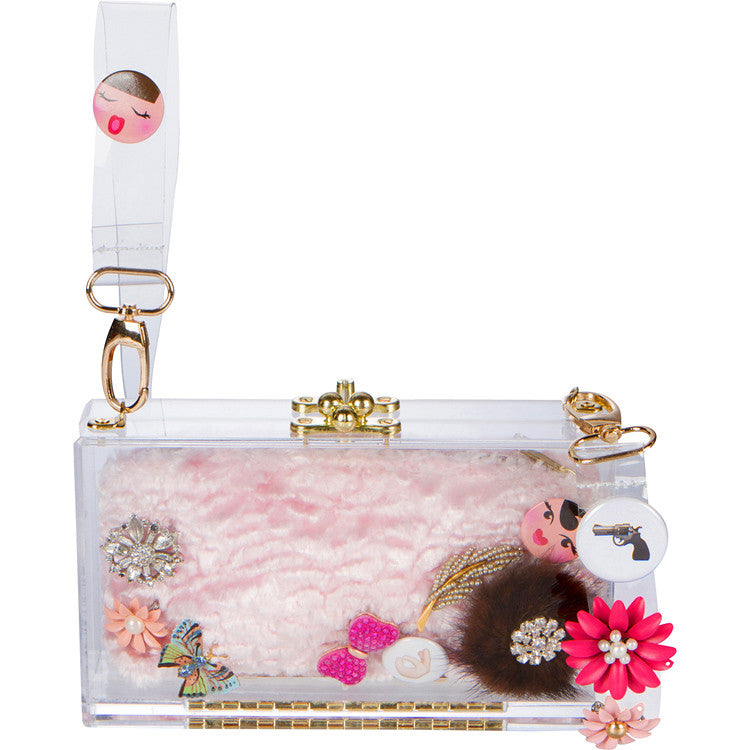 Embellished Clair Clutch - ashlyn