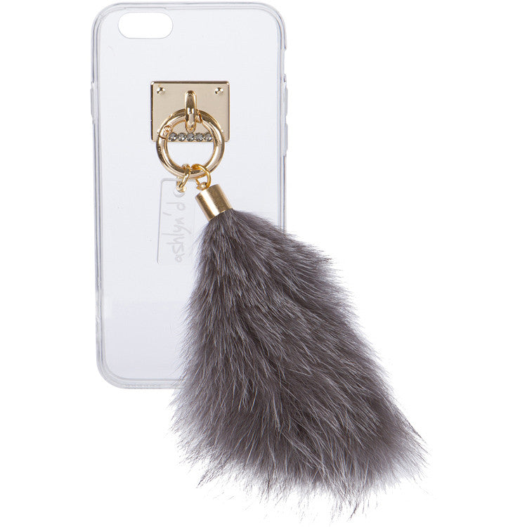 iPhone Case with Fur Tail - ashlyn