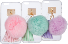 iPhone Case with Fur Ball and Tassel - ashlyn'd - 1