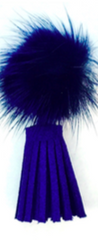 Fur and Tassel Earrings