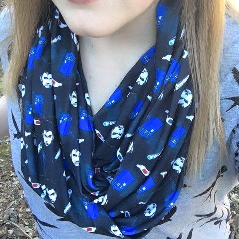 10th Doctor Inspired Infinity Scarf