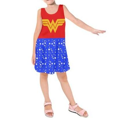 Wonderful Woman - Kids Sleeveless Dress