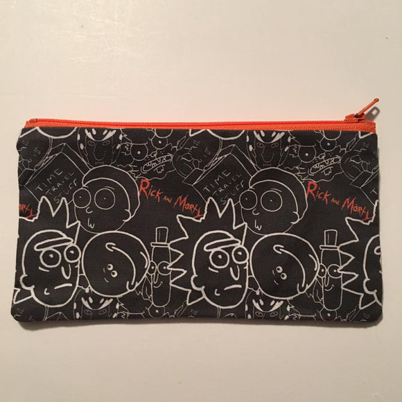 R&M White and Black Inspired Zipper Pouch