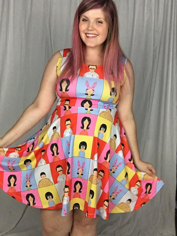 The Belcher Bunch Skater Dress