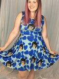 Candy Hearts Tina in Blue | Skater Dress