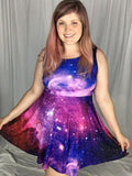 Girly Galaxy Skater Dress
