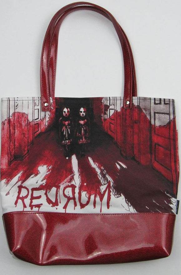 Redrum Custom Printed Canvas Tote Bag With Vinyl Accent