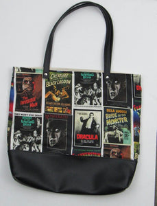 Monster Madness Canvas Tote Bag With Vinyl Accent