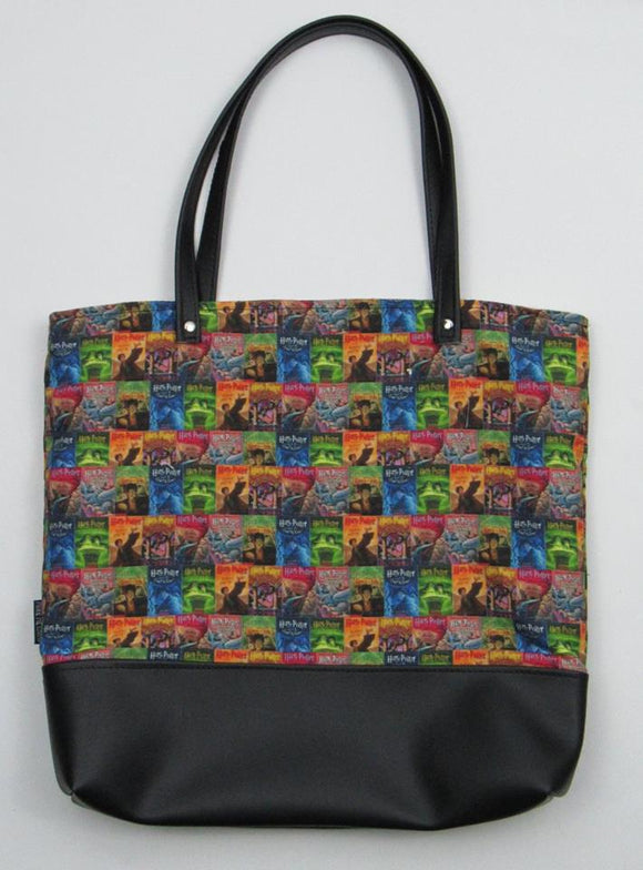 HP Book Worm | Canvas Tote Bag With Vinyl Accent