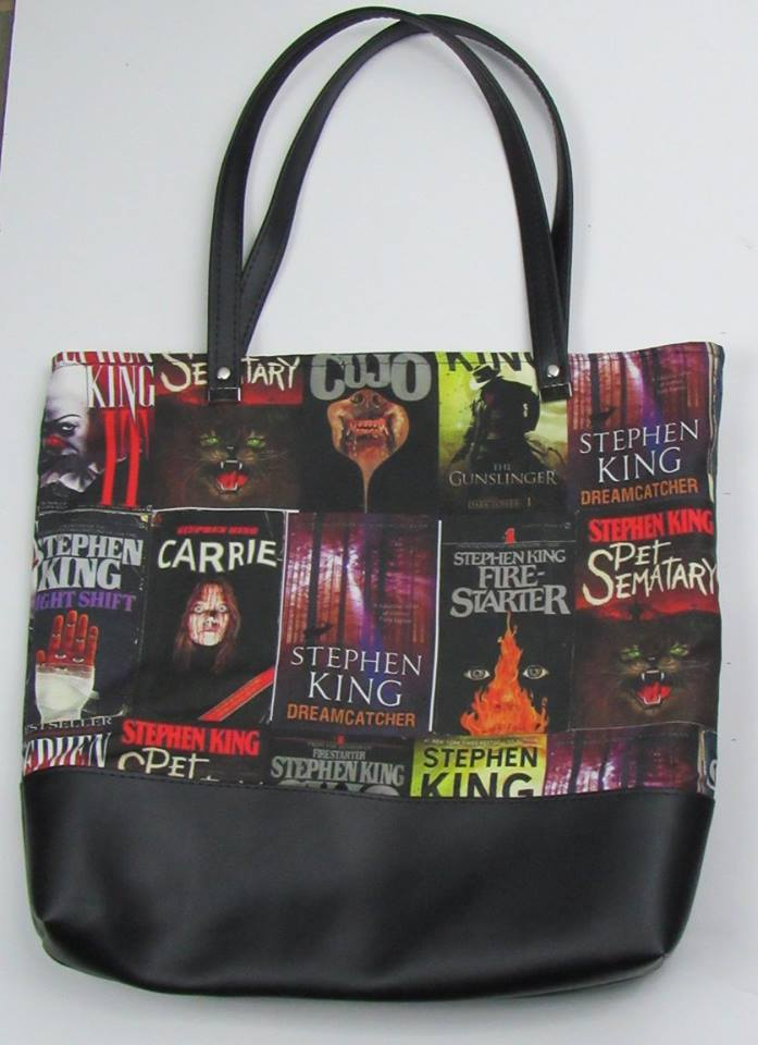 King of Books Custom Printed Canvas Tote Bag With Vinyl Accent