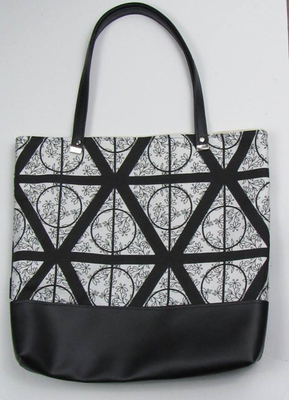 Deathly Hallows Custom Printed Canvas Tote Bag With Vinyl Accent