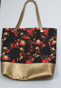 Beauty & The Shape of the Beast Custom Printed Canvas Tote Bag With Vinyl Accent