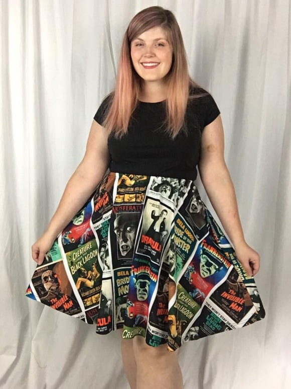Monster Madness - A line Skater Skirt