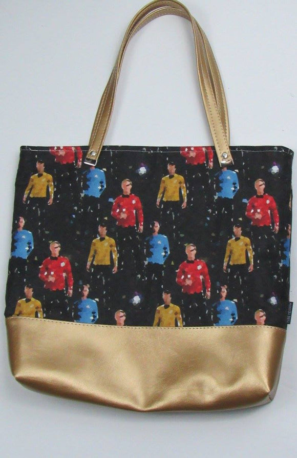 Star Trek Inspired Canvas Tote Bag With Vinyl Accent