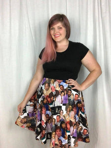 Office Mates - A line Skater Skirt