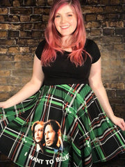 I Want To Believe - A-line Skater Skirt