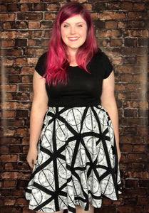 Deathly Hallows - A-line Skater Skirt