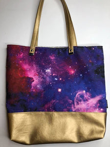 Girly Galaxy | Canvas Tote Bag With Vinyl Accent