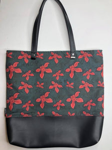 ABC's of Stranger Things Custom Printed Canvas Tote Bag With Vinyl Accent