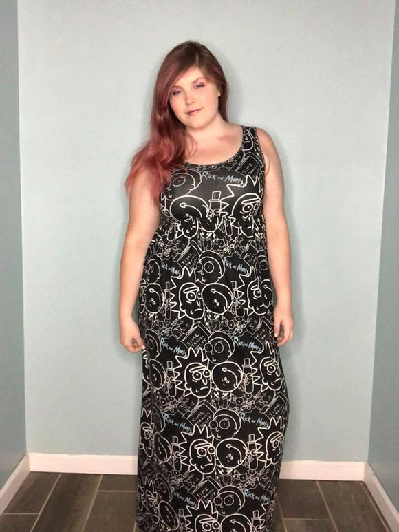 * Sleeveless Empire Waist Maxi Dress - Any Existing Print