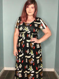 * Short Sleeved Empire Waist Maxi Dress - Any Existing Print