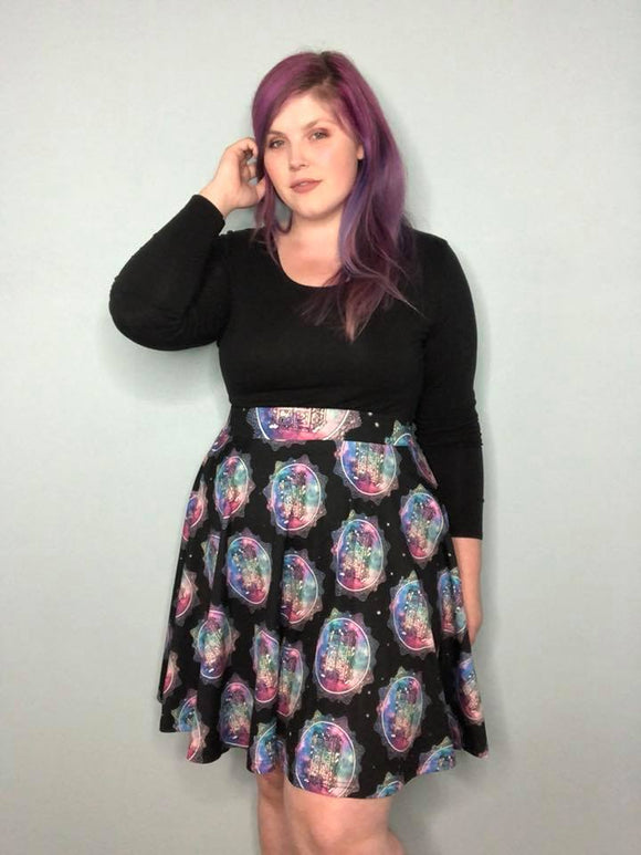 Galaxy Police Box - A-line Waistband Skirt