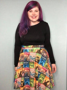 HP Bookworm | A-line High Waistband Skirt