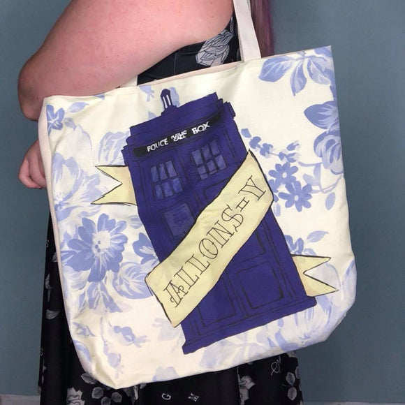 Allons-y Doctor Who Tote Bag