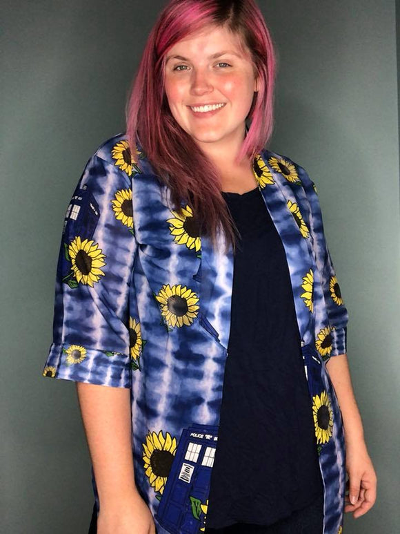 For Amy Doctor Who Sunflower | Open Front Kimono