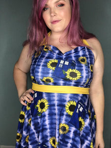 For Amy Doctor Who Sunflower | Pin-Up Style Dress